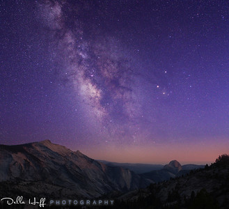 The Cosmos Above - Clouds Rest and Half Dome from Olmsted Point