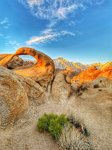 Alabama Hlls, Lone Pine California in the Eastern Sierras at Sunrise