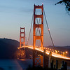 THE GOLDEN GATE AT DUSK