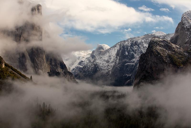 Morning Fog, Yosemite National Park