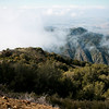 "Clouds streaming through the ""saddle"" of Saddleback"