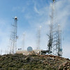 Telecommunication towers on Santiago Peak