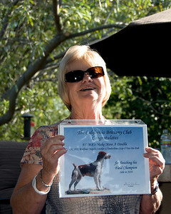 Peggy Doiron with Mac's FC Certificate