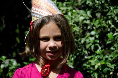 Caitlyn Nunez in her doggie awards party hat