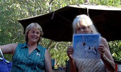 Sue Richards and Sheri Jason GCH Certificate