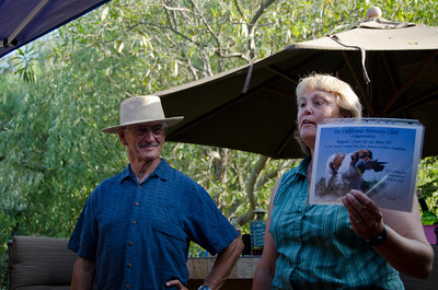 MIke and Sheri with Oscar's Senior Hunter certificate
