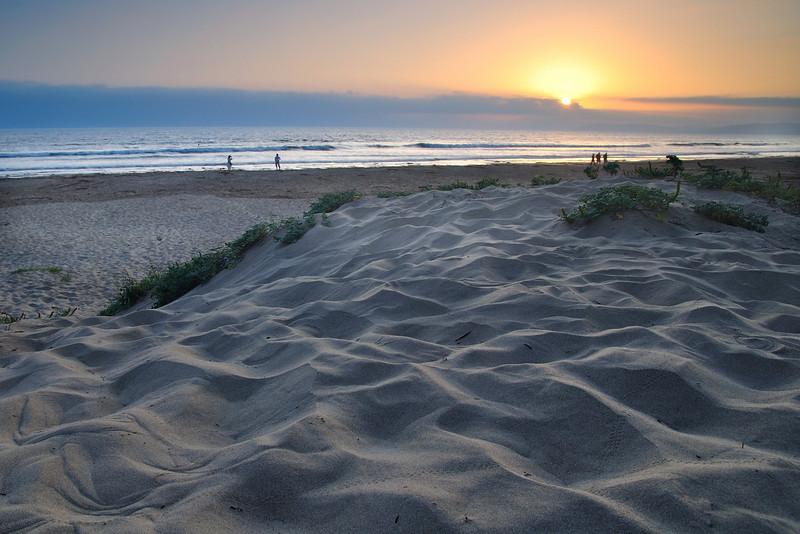Sunset Walk<br /> Morro Strand Park, Morro Bay, CA