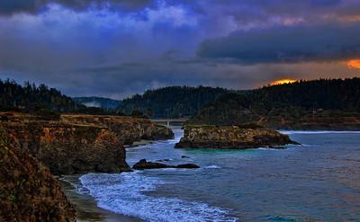 pacific-ocean-bridge-sunset