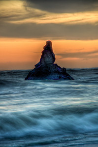 ocean-rock-sunset