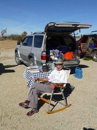 Relaxing before Desert committee meeting November 8-9