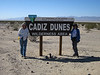 At start of our second day of work at the Cadiz Dunes, Janet Barth and I pose by wilderness sign.