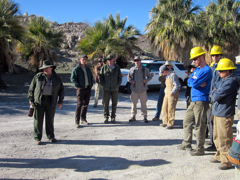 On Feb 12 we meet with NPS staffers at Zzyzx.