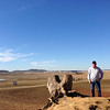 ACWA Executive Director Tim Quinn on the dry bed of Folsom Lake.