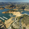 Shasta Lake, Jan. 2014. Photo courtesy of California Department of Water Resources.