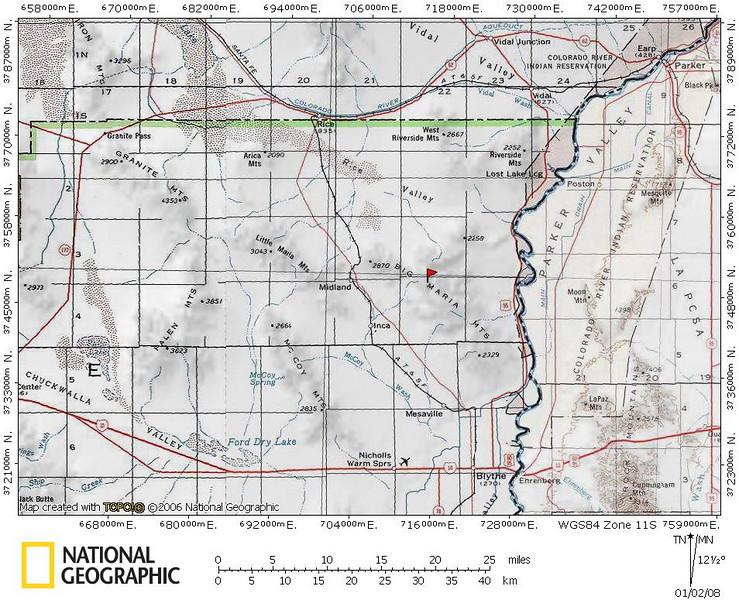 Big Maria Area Map