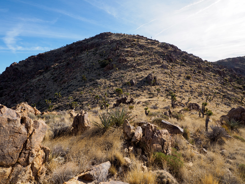 The final little hill to the top of Kessler Peak.