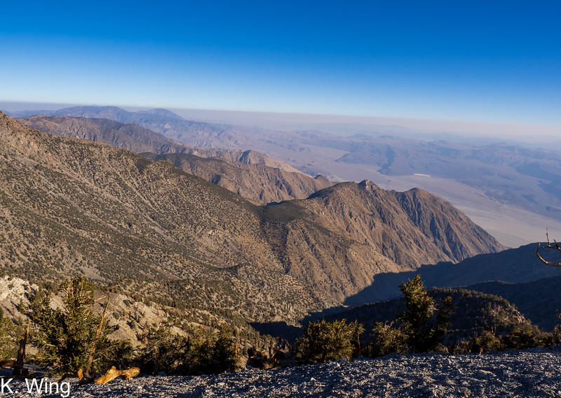 McElvoy Canyon and the Saline Valley - really smokey