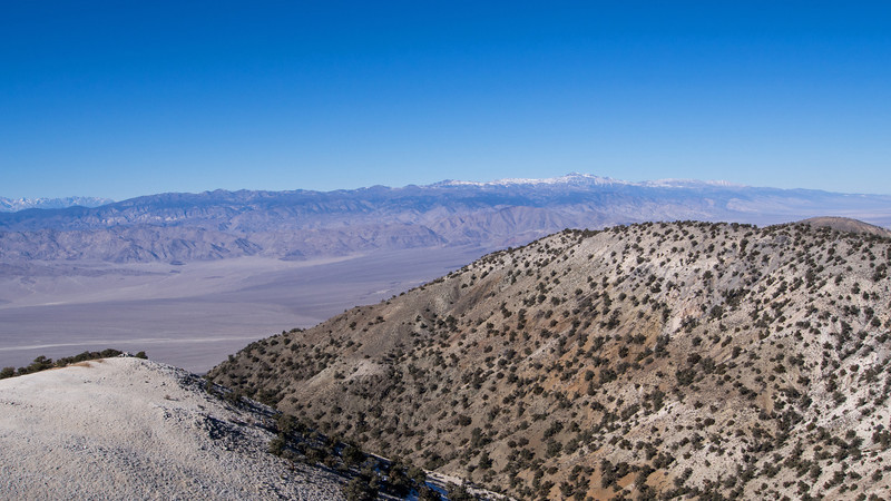 View NW to the White Mountains