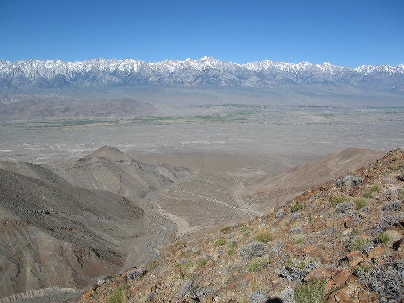 Looking across at the Sierra as we headed up to Mount Inyo.