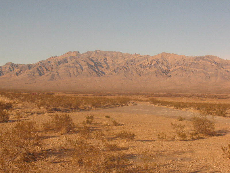 The Nopah Range - Pahrump Point area.  Taken the evening before my hike.