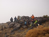 SoCal Hikers & Peakbaggers on the summit of Quail Mountain - no visability.