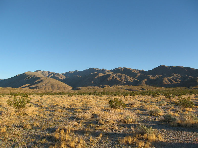 The Santa Rosa Mountains from S-22.