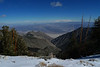 Looking down into Saline Valley from Bedford Saddle.