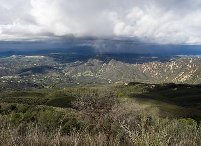 Calabasas Peak, Saddle Peak East, and McAuley Peak  2/11/17