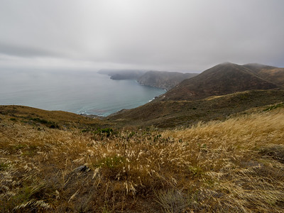 View along the ridge between Little Harbor and Two Harbors.