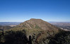 Looking back at Eagle Peak as I head toward Mount Diablo