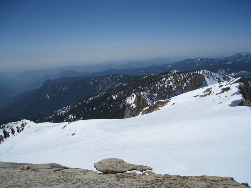 View WSW from Alta Peak - that's the way I came up
