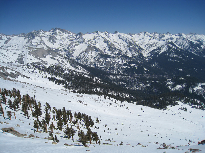 View southeasterly from Alta Peak - Great Western Divide