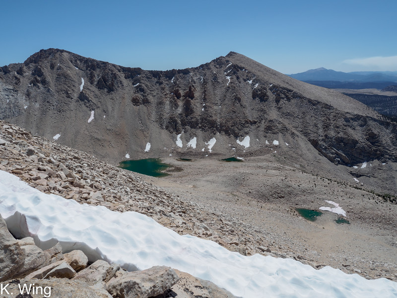 Mount Pickering and Joe Devel Peak above the lakes that feed into Perrin Creek
