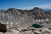 Mount Pickering and Joe Devel Peak with Cirque Peak in the distance between them.