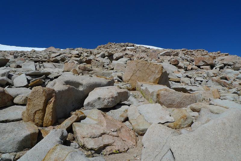 The summit of Cirque Peak ahead