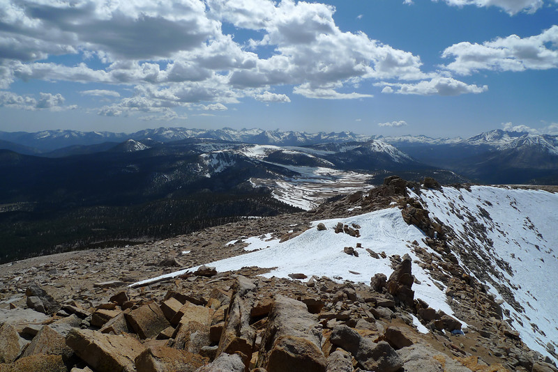 View westerly from Cirque Peak