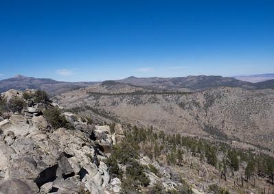 Round Peak to Olancha Peak in the distance.