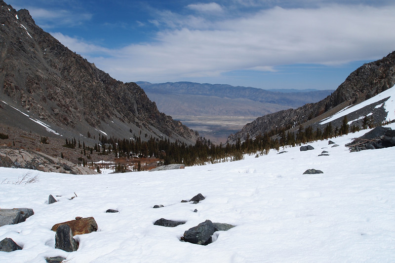 The Owens Valley with the Inyos in the distance