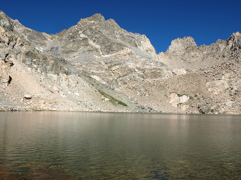 Dragon Peak as seen from the second lake.