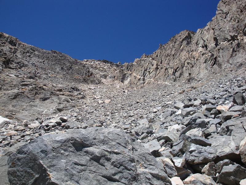 Still heading up in the rocks - moving slowly
