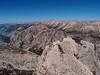 Summit ridge and view NW