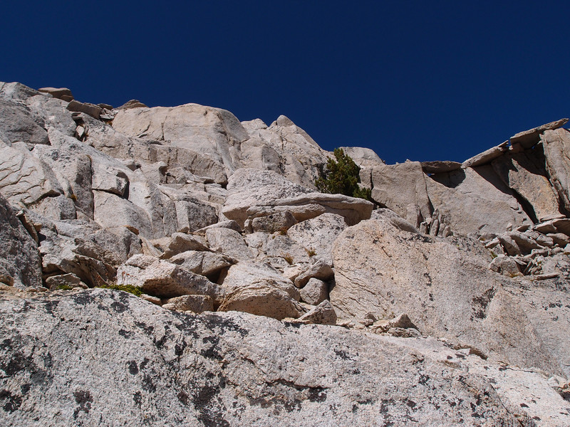The Class 3 is mostly up near the summit and there is a tricky move or two.