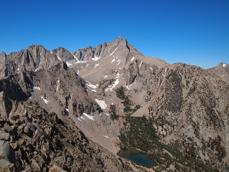 University Peak above Robinson Lake as seen from Independence Peak