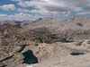 Looking into Rae Lakes Basin from Glen Pass