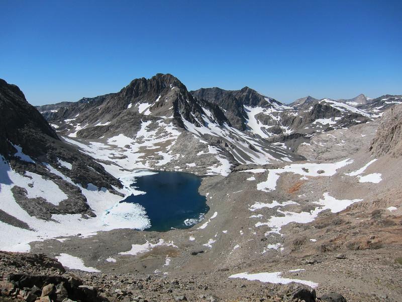 Charybdis above lake Lake 11828' - southwest of Black Giant