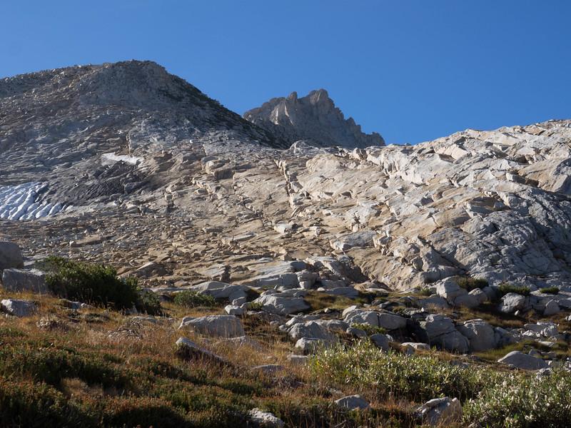 Zoomed in on Tower Peak