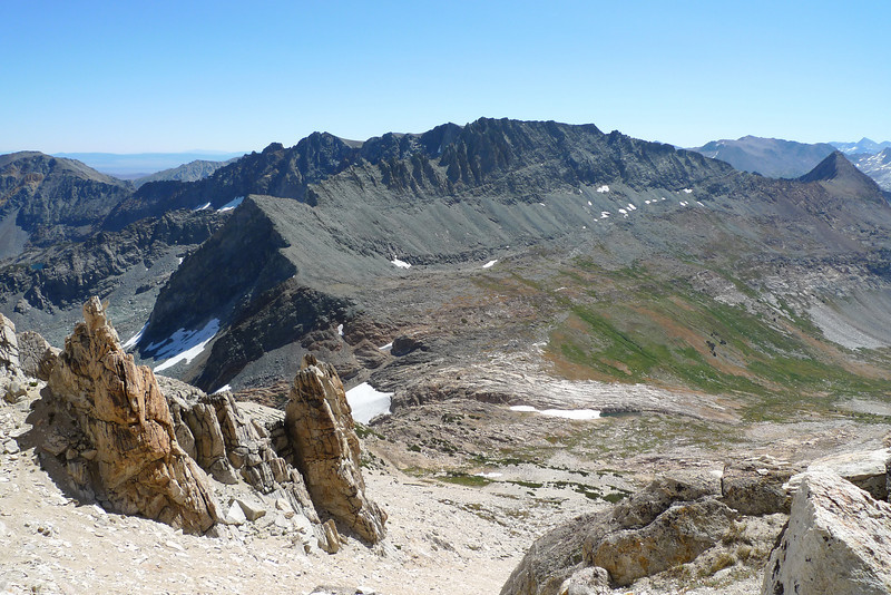 Looking back down to Horse Creek Pass