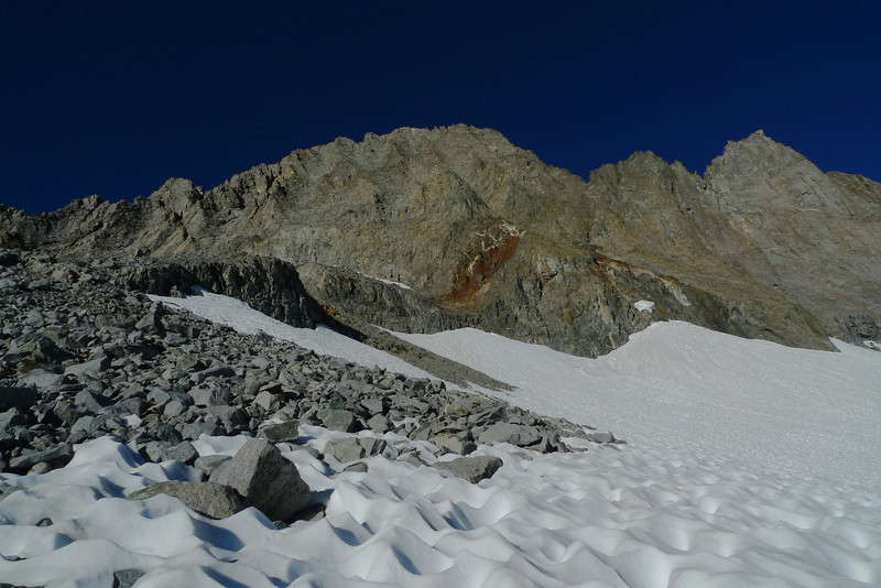 Middle Palisade to the left and Norman Clyde Peak to the right