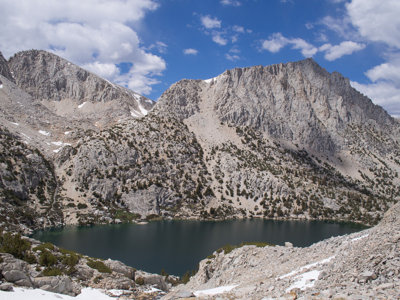 Ruby Lake with Mount Starr on the right above it