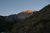 Morning light on Mount Laurel as we headed up the trail from Convict Lake.